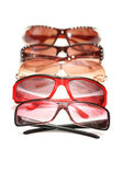 Various sunglasses isolated — Stock Photo