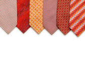 Silk ties isolated on the white — Stock Photo