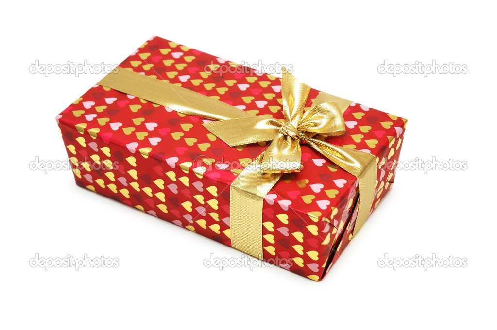 Gift box isolated on the white background — Stock Photo #2682463