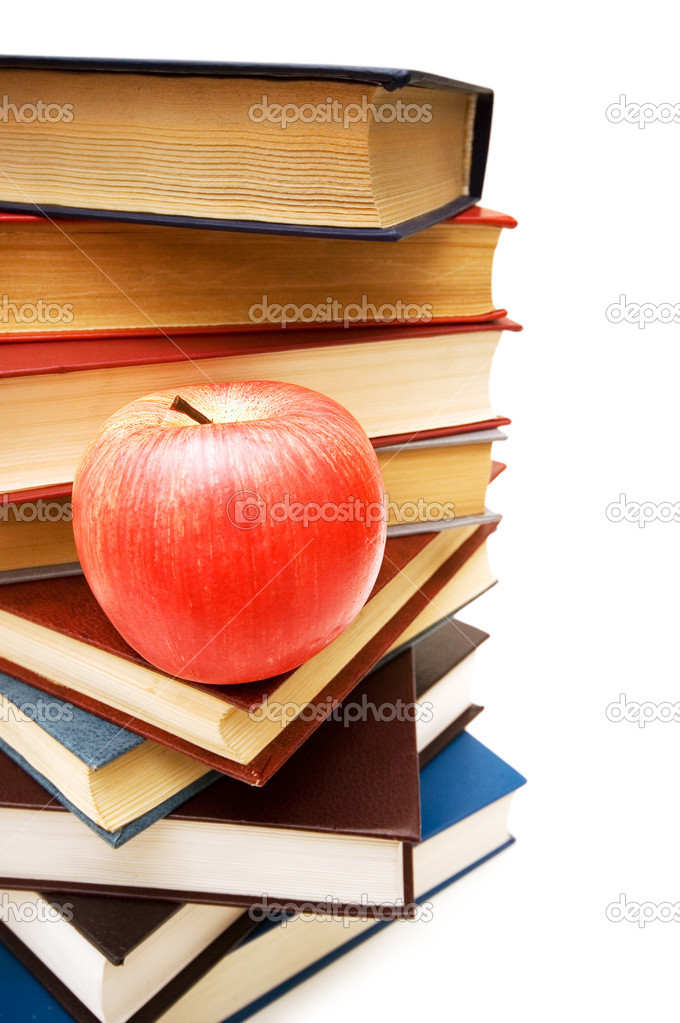 Back to school concept with apple and books  Stock Photo #2683544