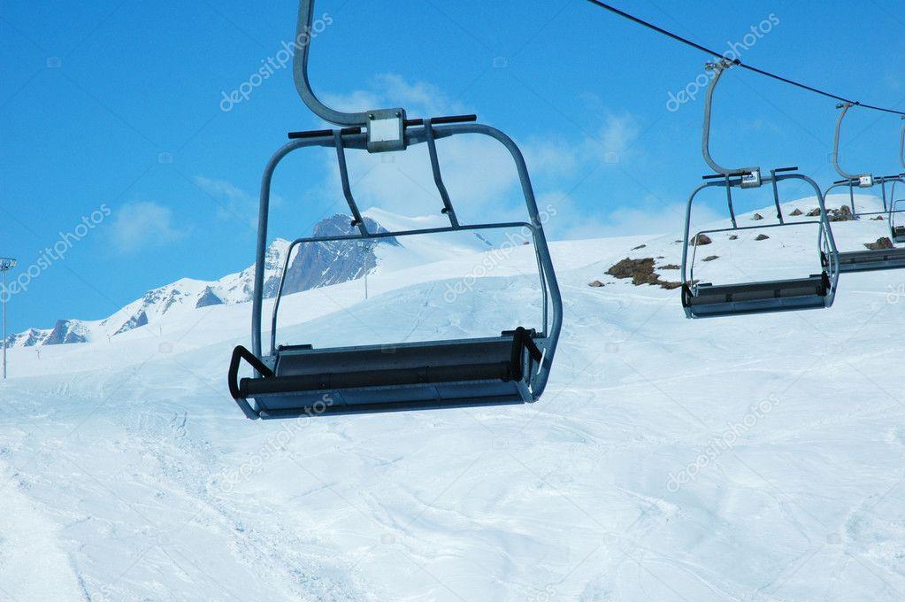 Ski lift chairs on bright day stock photo 169 elnur 2686157