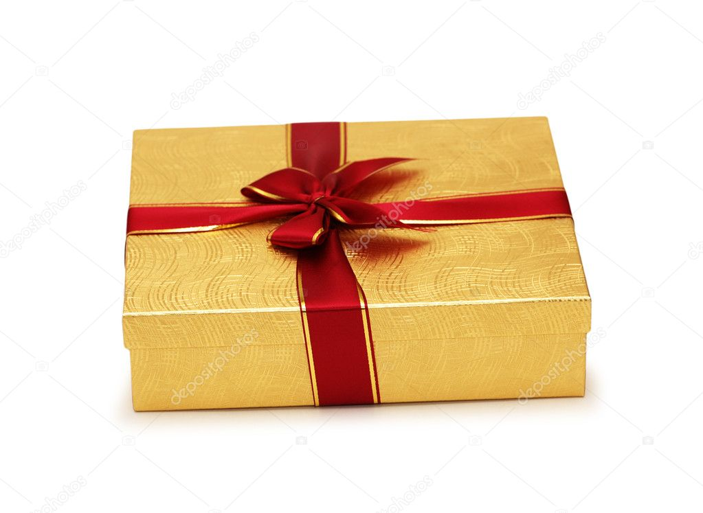 Gift box isolated on the white background — Stock Photo #2686751