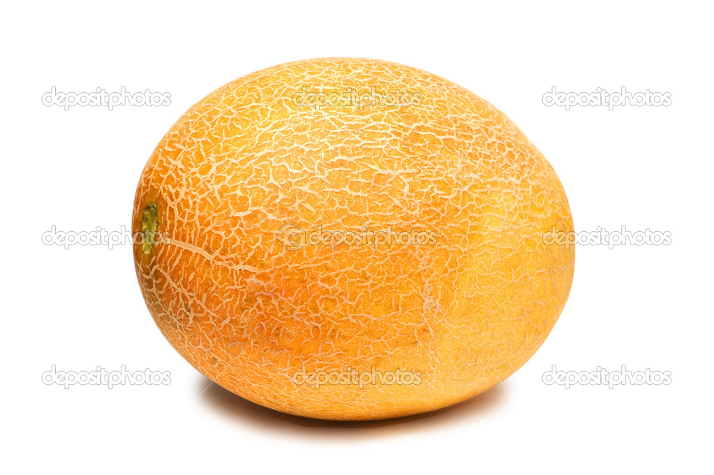 Yellow melon isolated on the white background — Foto Stock #2687393
