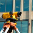Orange theodolite — Stock fotografie