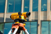 Orange theodolite — Stock Photo