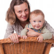 The small smiling happy kid with mother — Stock Photo