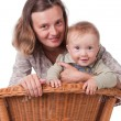Stock Photo: The small smiling happy kid with mother