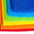 Foto Stock: Colour terry towels combined by pile