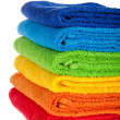 Colour terry towels combined by pile — Foto de Stock