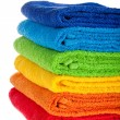 Colour terry towels combined by pile — Foto Stock