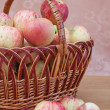 Stock Photo: Wattled basket with apples