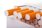 A packet of cigarettes in close-up — Stock Photo