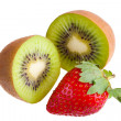 Royalty-Free Stock Photo: Kiwi and strawberry.