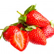 Berry of strawberry on white background. - Stock Photo