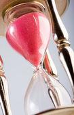 Wooden hourglass — Stock Photo