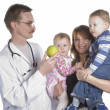 Children's doctor and small child — Stock Photo