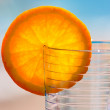Glass and orange segment — Stock Photo #1948431