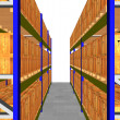 3D render of racking full of boxes — Stock Photo #2060090