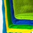 Colour terry towels combined by pile — Stock Photo #2060502