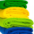 Colour terry towels combined by pile - Stock Photo