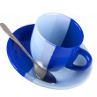 Colour tea cup — Stock Photo