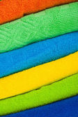 Colour terry towels combined by pile — Stock Photo