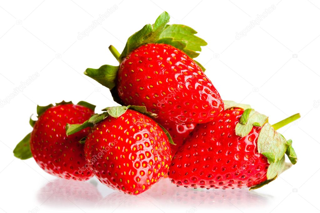 Berry of strawberry on white background. It is isolated. — Stock Photo #2065489