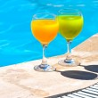 Two glasses with juice — Stockfoto