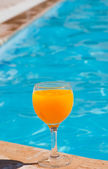 Glass with orange juice — Stock Photo