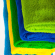 Colour terry towels combined by pile — Stock Photo #2420265