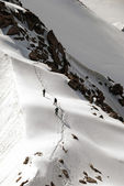 Climb in Caucasus — Stockfoto