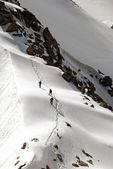 Climb in Caucasus — Stock Photo