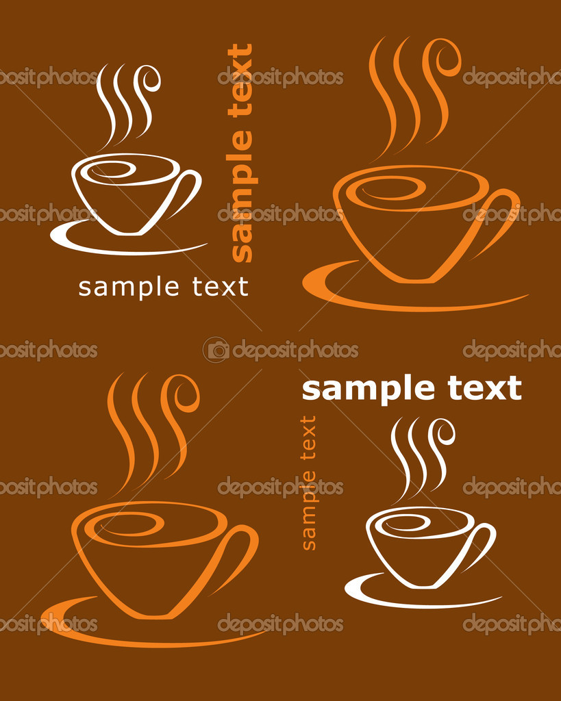  Coffee card  Stock Vector #1254070
