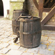 Stock Photo: Old barrels