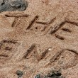 Inscription on sand — Stock Photo