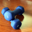 Two dumbbells — Stock Photo