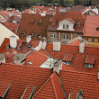 Roofs of old houses in Prague — Stock Photo