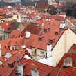 Stock Photo: Roofs of old houses in Prague
