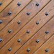 Stock Photo: Door with metal rivets