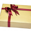 Gift in beautiful packing with a bow — Stock Photo #1214214
