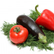 Royalty-Free Stock Photo: Pepper, tomato, eggplant