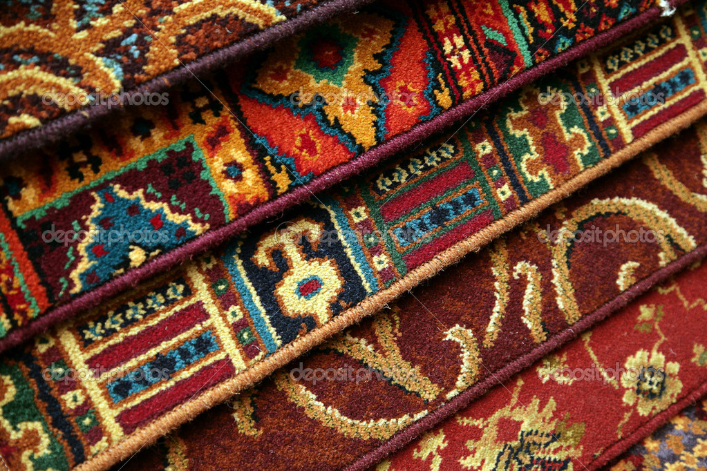 Samples of carpet coverings in shop — Stock Photo #1214561