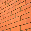 Wall of red bricks — Stock Photo