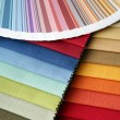 Fabric and opened color card — Stock Photo #1261497