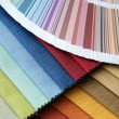 Fabric and opened color card — Stock Photo #1267394