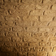 Ceiling from bricks shined with a lanter — Stock Photo
