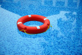 Red life buoy — Stock Photo