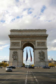 Parisian Triumphal arch — Stock Photo