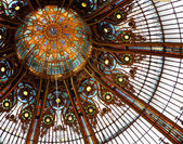 Ceiling in Galleries Lafayette — Stock Photo
