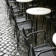 Tables of restaurant - Foto Stock